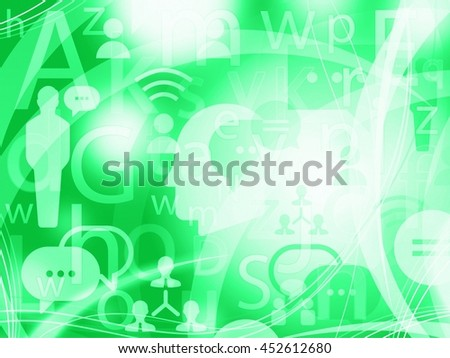 social abstract green light background illustration