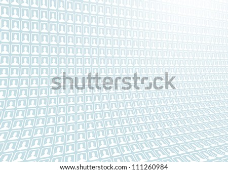 Social Background - stock photo
