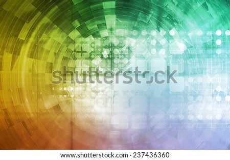 Social Discovery on the Internet as an Abstract - stock photo