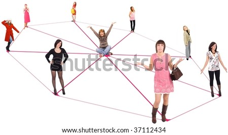 social Group - stock photo