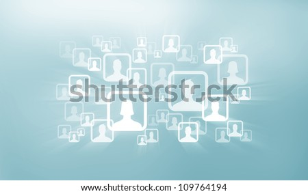 Social Group Icons - stock photo