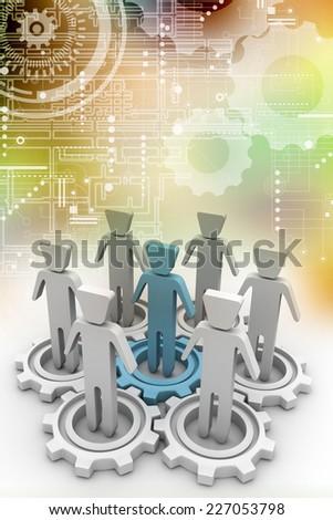 Social interaction  - stock photo
