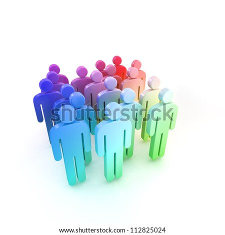 social leadership concept - stock photo