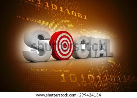 Social marketing target - stock photo
