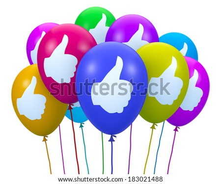 social media balloon symbol - stock photo