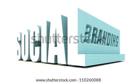 Social Media Branding - stock photo