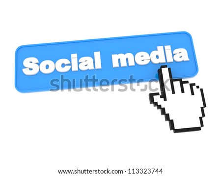 Social Media Button. Isolated on White Background.