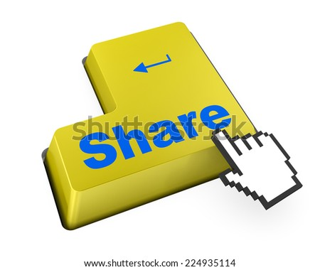 social media Button on Keyboard facebook twitter like - stock photo