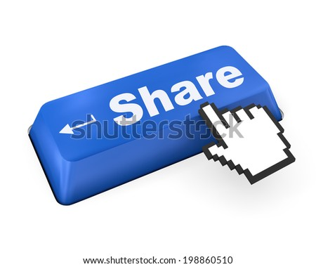 social media Button on Keyboard like  - stock photo