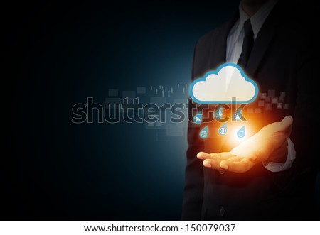 Social media cloud computing concept