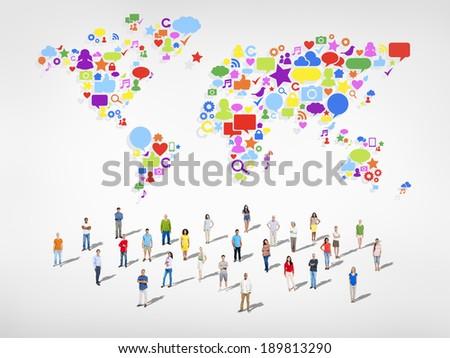 Social Media Community - stock photo