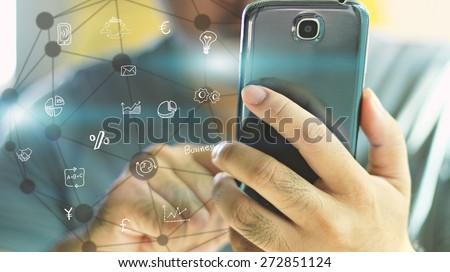 Social media concept. - stock photo