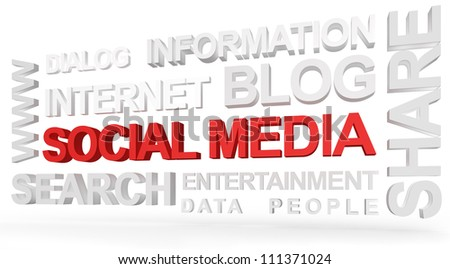 Social Media Concept. Created using PS. - stock photo