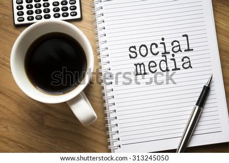 Social media conceptual - stock photo