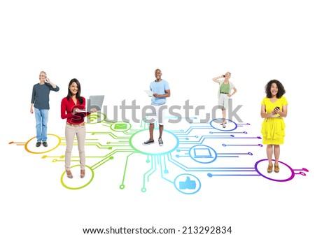 Social Media Connection - stock photo