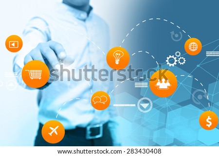 Social media connections. - stock photo