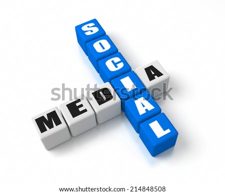 Social Media crosswords. Part of a business concepts series. - stock photo