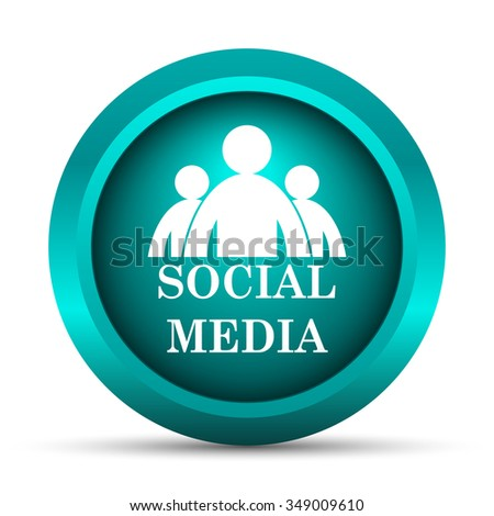 Social media icon. Internet button on white background.  - stock photo