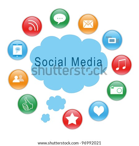 Social Media icons for website