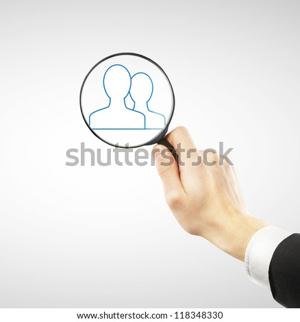 social media icons in loop - stock photo