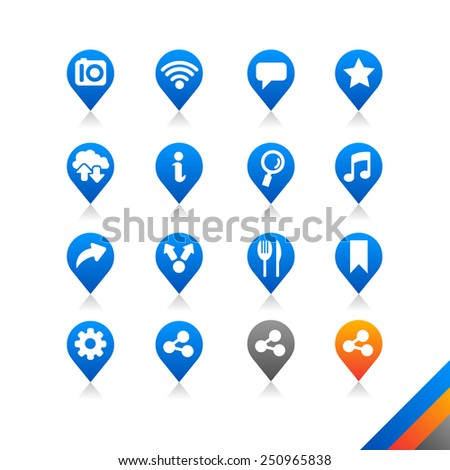 Social media icons - Simplicity Series  - stock photo