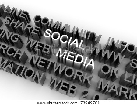 Social media illustration - stock photo