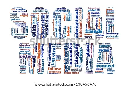 Social Media in word collage