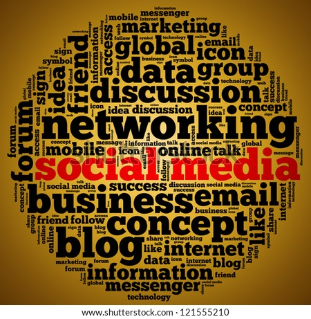 Social media info text graphic and arrangement concept. - stock photo