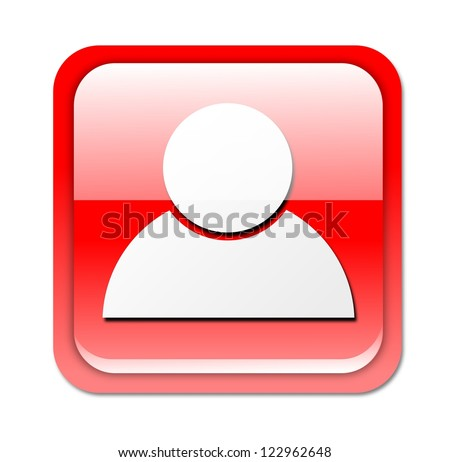 Social media, isolated button on white background. - stock photo