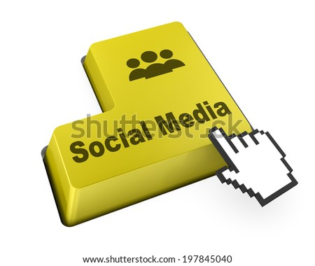 Social media keyboard button like  - stock photo
