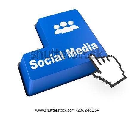 Social media keyboard button, , social media - stock photo