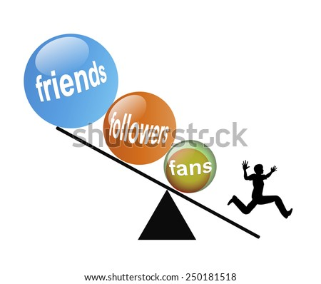 Social Media Nightmare. Humorous concept sign of person panicking because he feels threatened by his membership in social networks getting out of control - stock photo