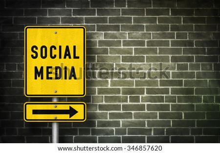 Social Media - road sign illustration