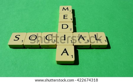 Social Media Scrable - stock photo