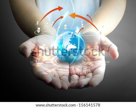 Social media,social network concept - stock photo