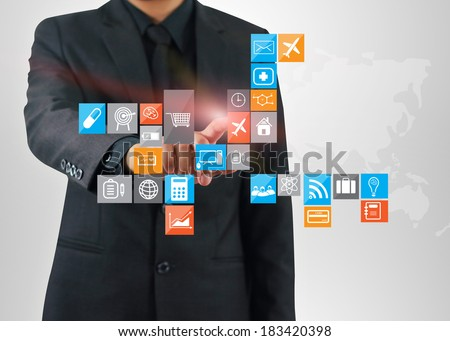 Social media,social network concept  - stock photo