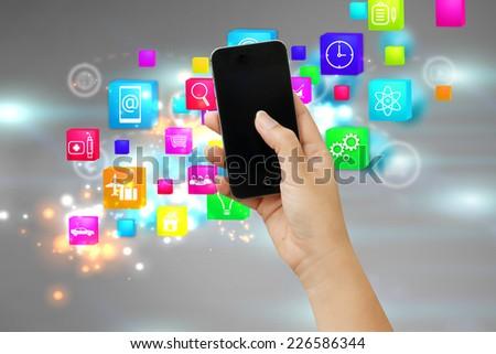 Social media,social network concept.  - stock photo