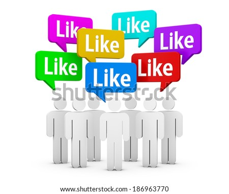 social media symbol like share thumb up