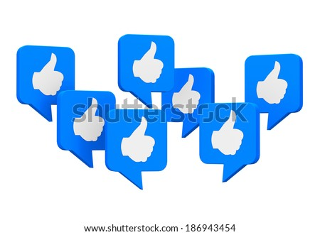 social media symbol like social media social network thumb up - stock photo