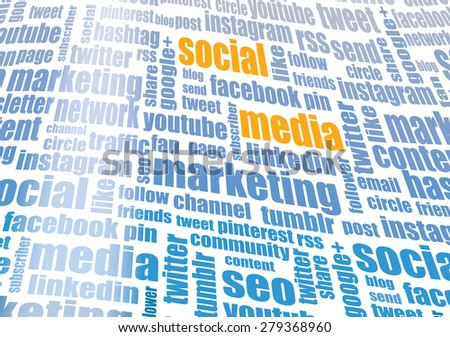 Social media tagcloud - stock photo