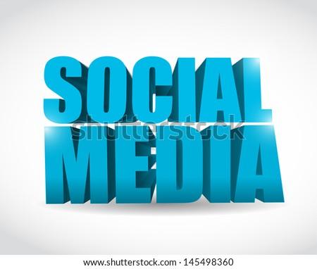social media text illustration design over a white background - stock photo