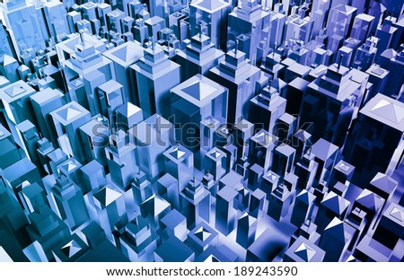 Social Media Trends and Tracking Chart Graph - stock photo