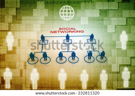 Social Network - stock photo