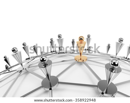 Social network and communication concept. Isolated over white background - stock photo
