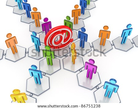 Social network concept.Isolated on white background.