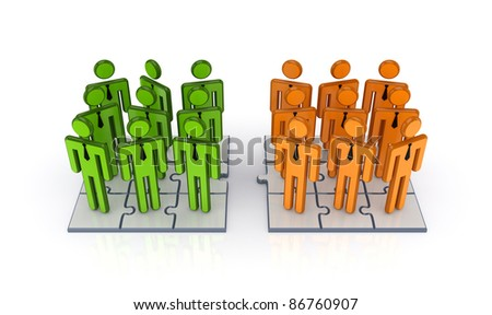 Social network concept.Isolated on white background.3d rendered. - stock photo