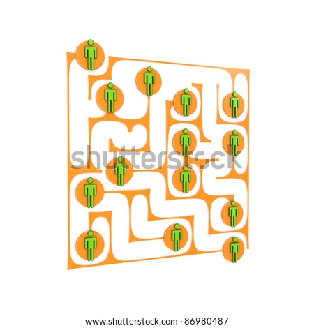 Social network concept. Isolated on white background.3d rendered.