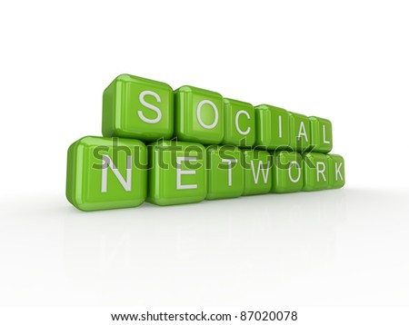 Social network concept.Isolated on white background.3d rendered.