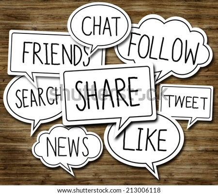 Social Network Concepts in Speech Bubbles - stock photo