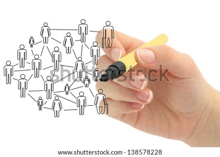 Social Network Connections - stock photo